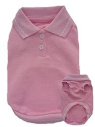 Pink Sleeveless Polo Shirt