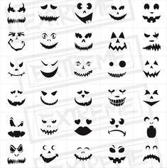manualidades miedo 30 Halloween Pumpkin Face Stencils - Pumpkin Carving stencils, Monster Faces Clipart, Jack o' Lantern Templates, Scary Faces Silhouette Scary Pumpkin Carving, Halloween Pumpkin Carving Stencils, Scary Pumpkin Faces, Pumpkin Carvings, Pumpkin Faces To Draw, Carved Pumpkins, Simple Pumpkin Faces, Pumpkin Carving Stencils Easy, Simple Pumpkin Carving Ideas