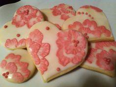 Hand-painted vintage floral style sugar cookies