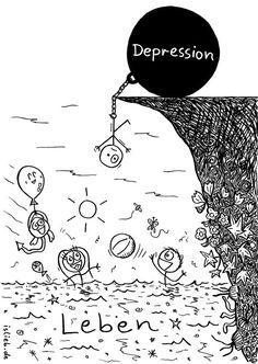 Und die Depression bremst Dich immer wieder aus. | 18 Comics, die Dir zeigen, wie sich Depressionen anfühlen
