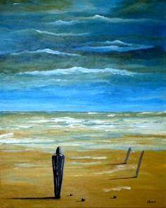 Acryl/Canvas 40 cm x 50 cm x 1,5 cm Alone  Verkauft
