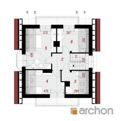 Dom w rododendronach (P) House Plans, Floor Plans, Farmhouse, How To Plan, Blueprints For Homes, Home Plans, Rural House, House Design, Cottages