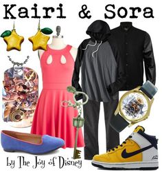 Outfits inspired by Kairi and Sora from the video game Kingdom Hearts 2!