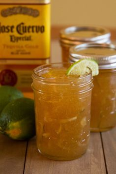 Margarita Marmalade: Lime marmalade with salt & tequila. use it on crackers, glaze chicken to grill