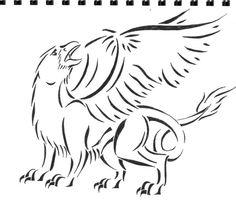 Griffin Tattoo by circusfire.deviantart.com on @deviantART