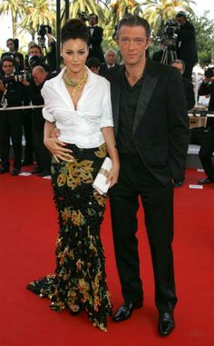 Monica Bellucci and Vincent Cassel at the Palais des Festival in...