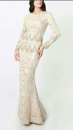 Malay Wedding Dress, Muslim Wedding Dresses, Bridal Dresses, Evening Outfits, Evening Dresses, Casual Dresses, Fashion Dresses, Dress Pesta, Cinderella Dresses