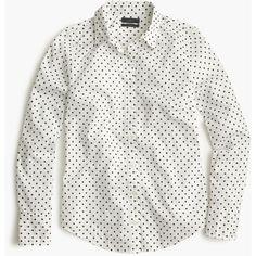 J.Crew Perfect Shirt ($78) via Polyvore featuring j.crew