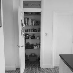 thinks you should never underestimate the pleasure of a pantry, as it means you can find things! We couldn't agree more. Window Stickers, Wall Stickers, Window Privacy, Best Windows, Window Film, Pantry, Locker Storage, Photos, Home Decor