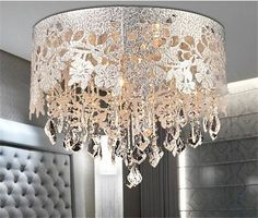 Details about Luxury Home Crystal Chandelier Ceiling Light Pendant Drum Lamp Shade 4 lights MA - All For Decoration Chandelier Ceiling Lights, Chandelier Shades, Chandelier Pendant Lights, Pendant Light Fixtures, Chandelier Crystals, Crystal Ceiling Light, Chandelier Ideas, Iron Chandeliers, Light Pendant