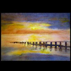 Starnberger See, Aquarell auf Papier, 2014 Ca. 34x24cm by Daniel Pultorak