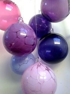 Damson Deep Purple Blown Glass Bauble, Light Catcher £9.00 - Corrina Field Handmade