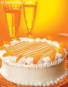 An aesthetic gateau laced with the tanginess of orange!