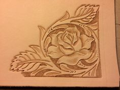 Leather carving for bifold mens wallet