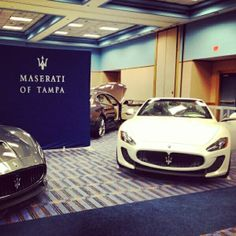 "A big ""thank you"" to our #Maserati guests who came out to the Tampa International Auto Show to spend the evening with us. #Grazie #TampaAutoShow"