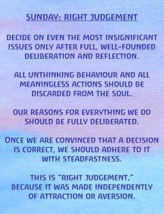 Soul Exercises: Sunday- Right Judgement. #rudolfsteiner
