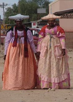 The Herero or Ovaherero - were nomadic herdsman who at the time of European contact, lived in Namibia and Botswana. They comprised several. African Tribes, African Diaspora, African Women, African Beauty, African Fashion, Ankara Fashion, African Style, Victorian Era Fashion, African Culture