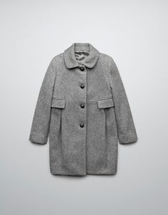 MARL COAT WITH CONTRASTING CONCEALED BUTTON CLOSURE - Coats - Girl (2-14 years) - Kids - ZARA United States