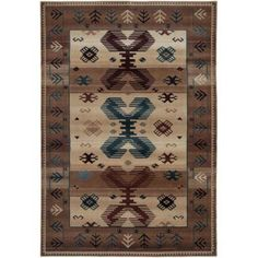 Rizzy Home Tan/Ivory/Brown Runner Rug In Polypropylene 2'3 inch x 7'7 inch, Beige