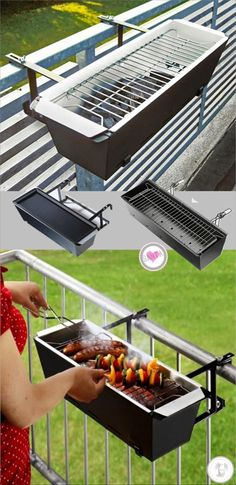 Ingenious idea if space is limited #OutdoorGrilling