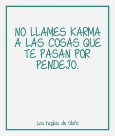 Don't call Karma the things that happen to you out of being in stupidity.( actually ,yes , it is karma you asked for it)