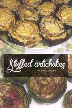 Stuffed Artichokes Sicilian Style @vicaincucina  | Recipe with step by step pictures