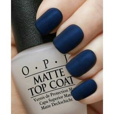 dark Blue matte nails More
