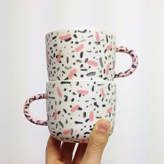 Leah Jackson Ceramics. Get the kiddos to drink some green juice in these adorable cups!