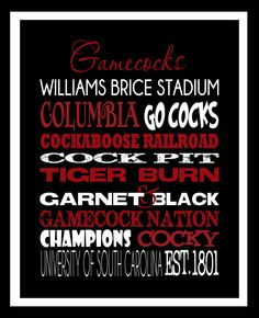 USC Gamecocks University of South Carolina Gamecocks by SCPeddler,-gift idea for j&k Gamecock Nation, Gamecocks Football, University Of South Carolina, South Carolina Gamecocks, Carolina Football, Palmetto State, College Fun, College Campus, College Life