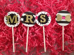Ms to Mrs: Kate Spade Inspired Cupcake or Donut toppers