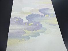 リサイクル 綴れ霞・雲に箔散らし模様織り出し袋帯:リサイクル・アンティーク着物のシンエイ