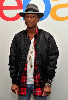 Pharrell Williams wears BBC Bee Line Red Plaid Camper Shirt and Timberland Boots | UpscaleHype