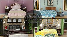 20 headboards on Aikea's 2 tile writing mesh by francythatsims - Sims 3 Downloads CC Caboodle