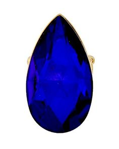 Teardrop Stretch Ring C48 Sapphire Blue Glass Stone Gold Tone Recyclebabe Rings http://www.amazon.com/dp/B016YNV0VE/ref=cm_sw_r_pi_dp_qV9jwb12A10TP