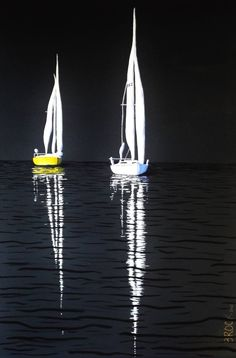 Buy Prints of By the Light of the Moon, a Acrylic on Canvas by Kyle Brock from U. Buy Prints of By the Light of the Moon, a Acrylic on Canvas by Kyle Brock from United States. Sailboat Art, Sailboat Painting, Moon Painting, Sailboats, Pop Art, Seascape Paintings, Acrylic Paintings, Buy Prints, Beach Art