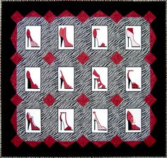 The custom red shoe quilt Kimberlee S. always wanted... see more @ whimziequiltz.com