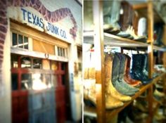 Texas Junk Company- 215 Welch Street, Houston.  Montrose district.  Used vintage cowboy boots (!!!!!!!!!!) and all sorts of junk.  Only open Friday and Saturday.
