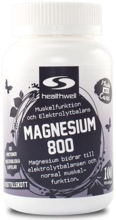 Magnesium 800 | Prisvärt magnesiumcitrat | Svensk Hälsokost Super Greens, 6 Pack, Spirulina, Omega 3, Collagen, Mineral, Coconut Oil, Vegetarian, Jar