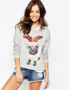 Pug Motif Jumper #Ugly Sweater Party