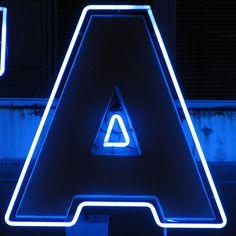 A, neon