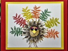 bensarmom by bensarmom - Cards and Paper Crafts at Splitcoaststampers Diy Cards Crafts, Paper Crafts, Fall Cards, Holiday Cards, Mother Card, Autumn Painting, Flower Stamp, Bird Cards, Thanksgiving Cards