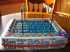 Swimming Pool Cake Designs | Olympic Pool Birthday Cake / Swim Team / Swimmer - Cake Decorating ...