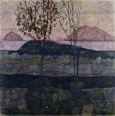 Egon Schiele - Versinkende Sonne (1913)