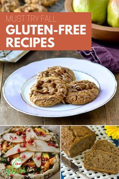 Our favorite gluten free dessert, bread, lunch and dinner recipes! Make delicious pizza dough, cookies, and more with these simple recipes. A must try list for this fall! Treat yourself this holiday season with these delicious but healthy gluten free recipe ideas. Pear Recipes, Simple Recipes, Fall Recipes, Healthy Gluten Free Recipes, Gluten Free Desserts, Healthy Dinner Recipes, Clean Eating Recipes, Healthy Eating, Filling Snacks