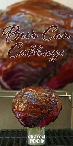 We've all heard of beer can chicken, but Beer Can Cabbage?! It was certainly a new one for me before I gave it a try! Once you try this easy trick on the BBQ, you'll wonder why you never grilled your cabbage like this before! Cabbage done up this way tastes delicious in coleslaw, or simply as is on a pulled pork or chicken sandwich. Vegetarians would also love this as is on a bun! Go on, crack open a beer and give it a go!