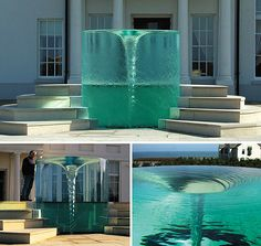 The amazing water Vortex Fountain by William Pye is called Charybdis