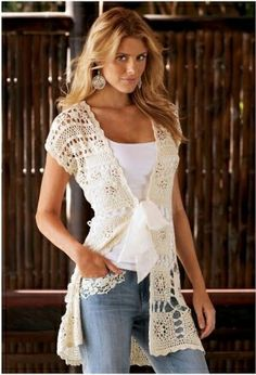 Crochet lace sweter