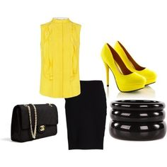 business attire.. what do pops of yellow say to you? #personalbrand #workattire