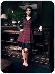 Click on the photo to go to our online shop.    Jean Tartan Dress    Product ID: 5765