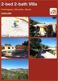 2-bed 2-bath Villa in Pedreguer, Alicante, Spain ►€599,000 #PropertyForSaleInSpain
